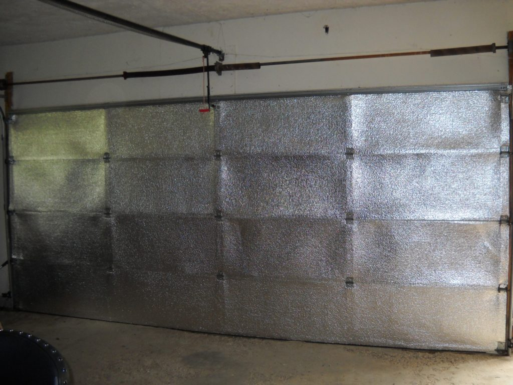 Garage Door insulated with DIY kit
